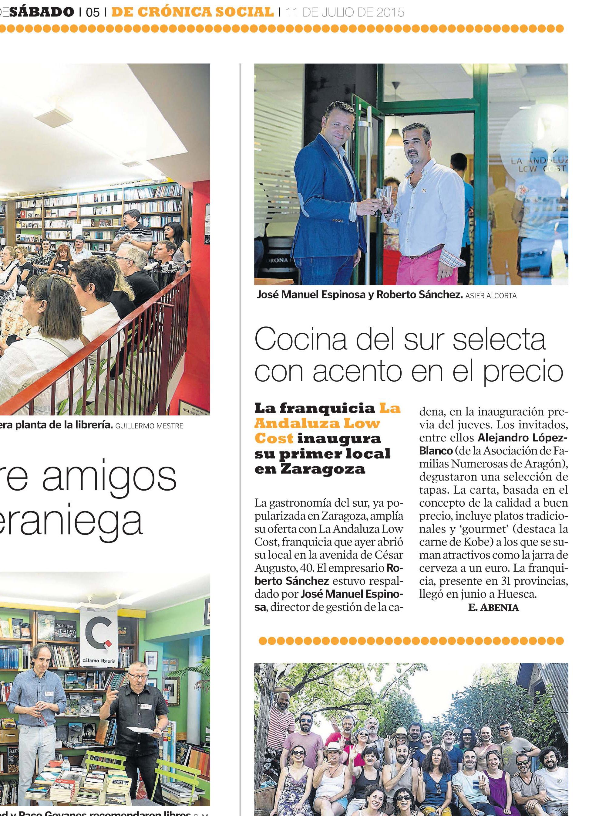 Prensa | Franquicia de restaurantes La Andaluza Low Cost